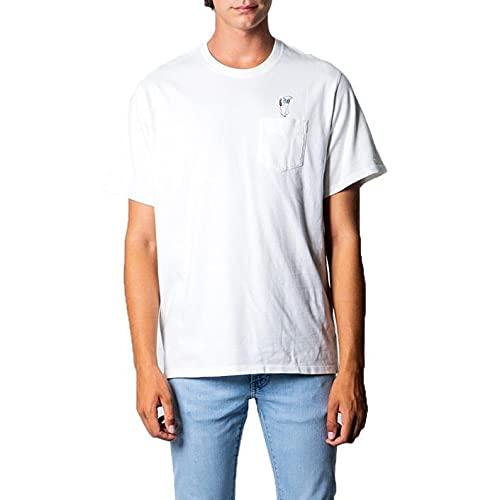 Levi's Relaxed Fit Pocket Tee T-Shirt, Back Flip Snoopy Marshmallow, L Alto Uomo