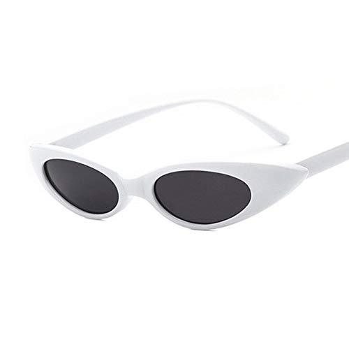 HAOMAO Vintage Uv400 Oval Cute Sexy Cat Eye Gafas de Sol para Mujer Diseñador de la Marca Eyewear C7