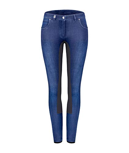 CAVALLO Denim Reithose Caro GRIP, blue-darkblue, 42