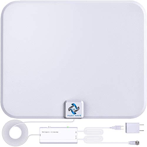 U MUST HAVE Amplified HD Digital TV Antenna Long 200 Miles Range Support 4K 1080p Fire tv Stick product image