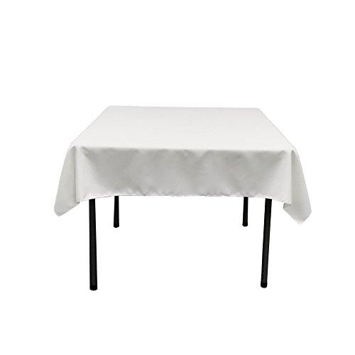 LA Linen Polyester Poplin Square Tablecloth, 52