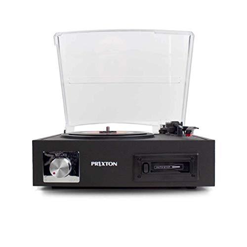 PRIXTON VC200 - Tocadiscos de Vinilo Vintage, Reproductor Vinilo y Reproductor de...