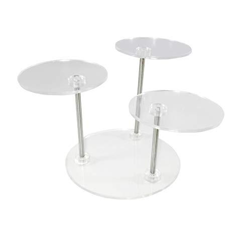 FixtureDisplays 3-Teir Plexiglass Acrylic Stand Riser Jewelry Display Phone Stand 13801 13801