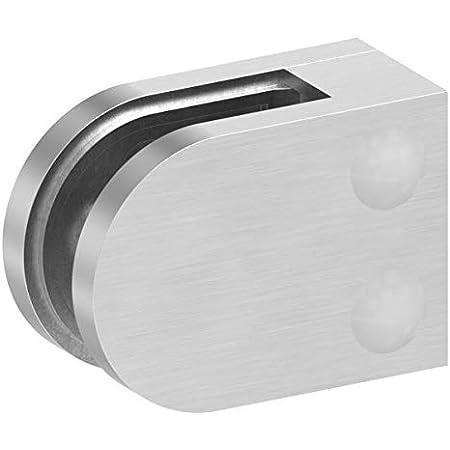 Gobesty 304 Edelstahl Glashalter 4 x Edelstahl Einstellbare Glas Halterung Glasklemmhalter Glashalter Gel/ände Flach Anschluss Glass Clip Gr/ö/ße 6-9mm