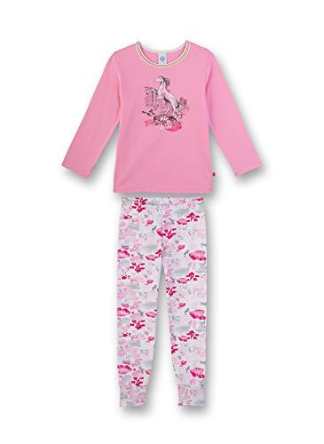 Sanetta Mädchen Pyjama lang Zweiteiliger Schlafanzug, Rosa (rosa 3813), (Herstellergröße:128)