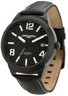 Jorg Gray ヨーグ・グレイ ヨーググレイ Leather Black Dial Men's watch #JG1950-12 男性用 メンズ 腕時計 (並行輸入)