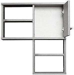 Schildmeyer Hängeschrank 120239 Isola, 60x20.5x65 cm,  esche grau Dekor