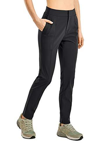 CRZ YOGA Pantalones de Senderismo con Cremallera para Mujer Pantalones Casuales Negro...