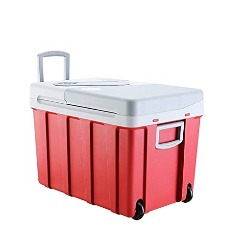 WECDS-E 40L Cool Box on Wheels Car Refrigerator,12v 240v Portable Electric Coolbox High Refrigeration Fridge Freezer with Automatic Locking Handle Perfect