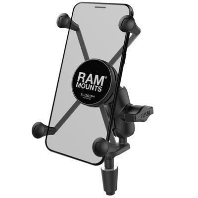 RAM X-Grip Large Phone Mount with Motorcycle Fork Stem Base