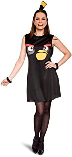 Women's Angry Sassy Black Bird Costume-1