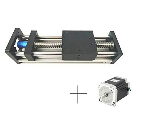 Antrella 250mm de Longueur de Course Module de Coulisseau à Guidage Linéaire avec Vis à Billes RM1605 SFU1605 avec 86 Stepper Motor, Série GGP8080, pour imprimantes CNC et 3D, fraiseuse