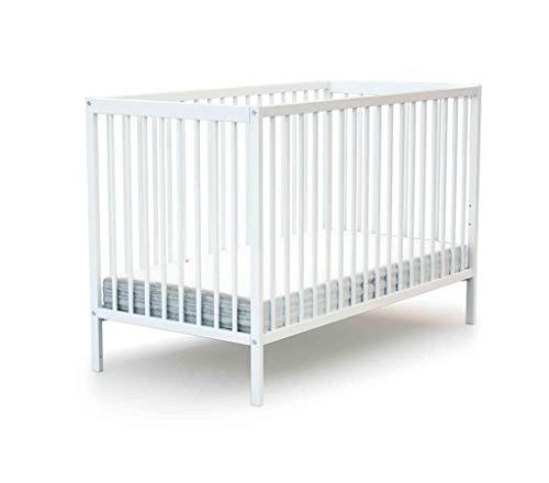 Lit à barreaux en bois 70x140cm Baby Fox - Blanc