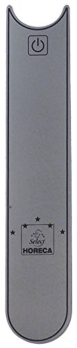 Horeca-Select stickers voor staafmixer breedte 25 mm zilver lengte 125 mm materiaaldikte 1 mm symbool AAN-AUS