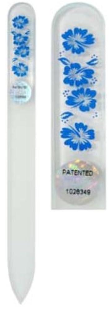 言い直す皮肉しっとりBlazek(ブラジェク) ガラス製爪やすり ハワインアンMサイズ 140mm チェコ製 ブルー