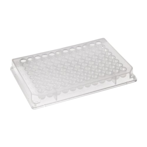 Corning 3595 Polystyrene Flat Bottom 96 Well TC-Treated Clear Microplate, With Low Evaporation Lid (Case of 50)