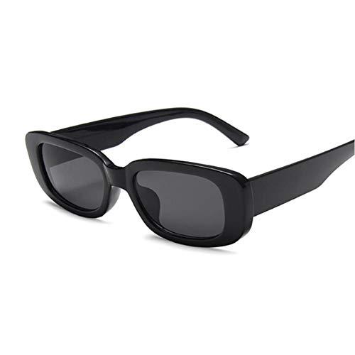 FRGH Gafas De Sol Cuadradas De Viaje para Mujer, Gafas De Sol Rectangulares Pequeñas para Mujer, Retro Vintage