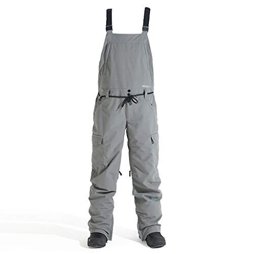 Chaqueta esquí Pantalones de snowboard de una sola pieza de los pantalones correas de esquí de invierno al aire libre a prueba de viento resistente al desgaste resistente al frío del Snowsuit traje de