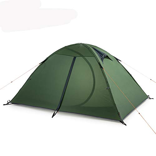 TWDYC 2 People Ultralight Camping Tent Outdoor Cycling Trekking Hiking Backpacking Tents Waterproof (Color : C)