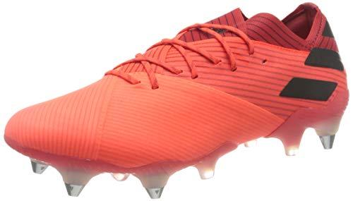 adidas Nemeziz 19.1 SG, Zapatillas de fútbol Hombre, CORSEN/NEGBÁS/ROJGLO, 44 2/3 EU