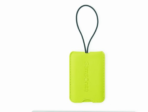 Samsonite Luggage 2 Pack Vinyl ID Tag, Neon Green, One Size