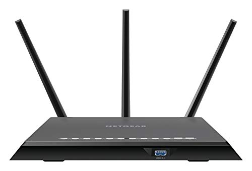 Netgear R7000 Dual-band (2.4 GHz / 5 GHz) Gigabit Ethernet Black wireless router
