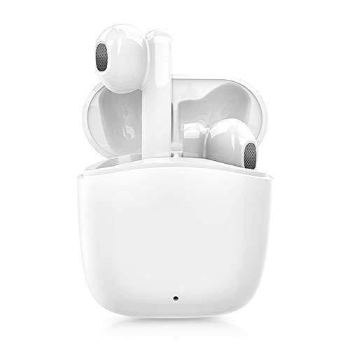 Auriculares Bluetooth 5.0, Auriculares Inalámbricos Bluetooth Deportivos IPX5 Impermeable, In-Ear Cascos Bluetooth Inalámbricos con Microfono Dual y Caja de Carga Rapida para Android/Huawei/Samsung
