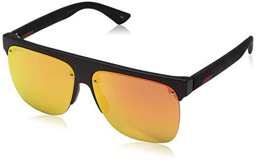 Gucci Herren GG0171S 001 Sonnenbrille, Schwarz (1/Red), 60