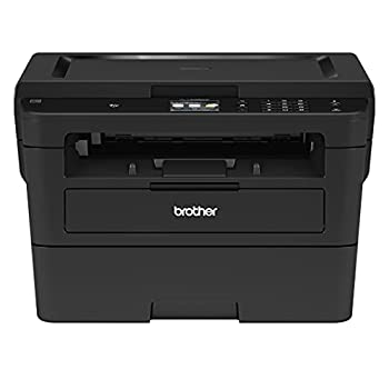 Brother HL-L2395DW Monochrome Laser Wireless All-in-One Printer with Convenient Flatbed Copy & Scan Automatic Duplex Printing 2.7  Color Touchscreen 36ppm 2400 x 600 dpi 250-sheet Hi-Speed USB