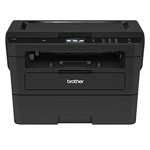 """Brother HL-L2395DW Monochrome Laser Wireless All-in-One Printer with Convenient Flatbed Copy & Scan, Automatic Duplex Printing, 2.7"""" Color Touchscreen, 36ppm, 2400 x 600 dpi, Broage Printer Cable"""