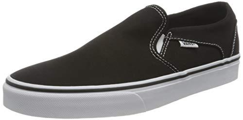 Vans Damen Asher Sneaker, (Canvas) Black/White, 41 EU