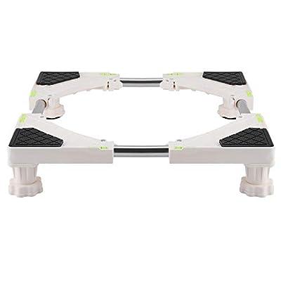 FTVOGUE Heavy Duty 4/8 Feet Adjustable Washing Machine Base Stand Refrigerator Holder Bracket Fridge Base Stand Mobile Bases(4 Feet)