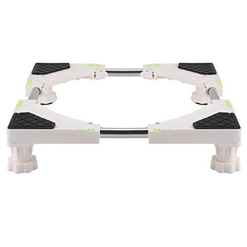Raguso 4/8 Piedi Resistenti Base Regolabile per Lavatrice Lavatrice Supporto per Frigorifero Staffa per Lavatrice Multifunzione Supporto per asciugatrice Nuovo(4 Feet)