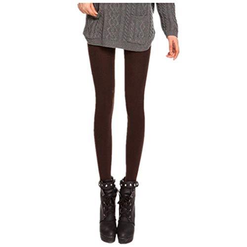 Crystallly Kolylong Vrouw Polyester Leggings En Fluwelen Panty's Leggings Elastische Slank Eenvoudige Stijl Fit Huidkleur (75 90Cm)