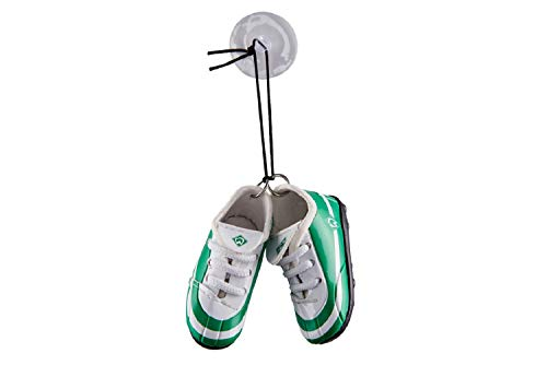 Werder Bremen Autospiegel Schuhe Minischuhe mit Sauger (one Size, grün/weiß)