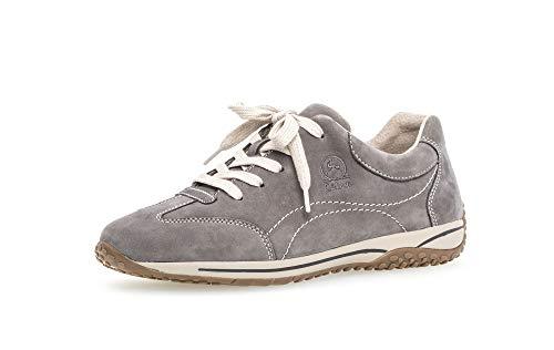 Gabor Damen Halbschuhe, Frauen Sneaker Low,lose Einlage,Moderate Mehrweite (G),Wechselfußbett,Comfort-Mehrweite,Grafite,38 EU / 5 UK