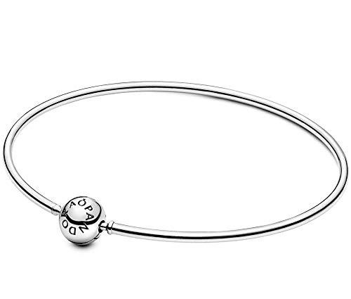 PANDORA Me Bangle 925 Sterling Silver Bracelet, Size: 16cm, 6.3 inches - 598406C00-16