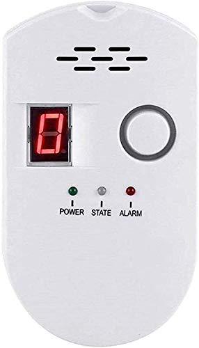 Einsteckbarer Sensor Gas Monitor , Gasmelder, LPG/Erdgas/Kohle Gas Lecksucher, Methan Propan Butan Alarm für brennbare Gase in der Küche Krankenhausgarage, Akustischem Alarm und LED Digitalanzeige