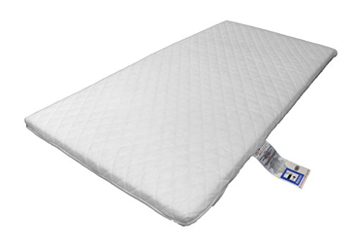 Laura® Deluxe Hypo-Allergenic Eco Air Flow Quilted Dual Sided Travel Cot Fibre Mattress 119 x 59cm x 5cm Thick British Made