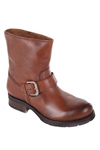 Diesel Damen Boots Stiefeletten Kruiser Echtleder (EUR 36, Braun)