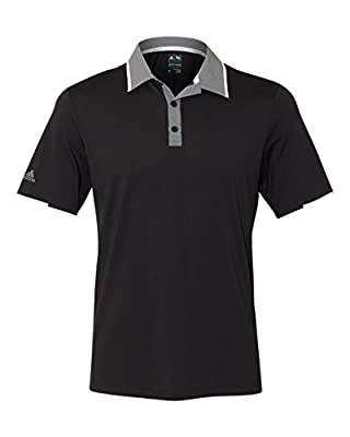adidas Mens Climacool Performance Colorblock Sport Shirt (A166) -Black/Vist -L