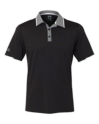 adidas Mens Climacool Performance Colorblock Sport Shirt (A166) -Black/Vist -M