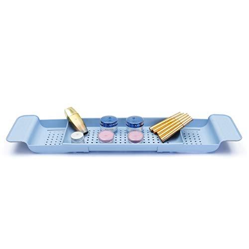 Shelf Serviette D'étagère en Rack - Organisateur De Porte-Baignoire Caddy - Receveur De Douche - Tablette De Baignoire Extensible