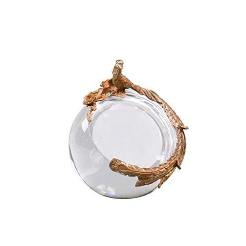 Bolas decorativas Decoración de la sala de estar, estilo europeo del cobre del oro bola de cristal Crafts Estudio del dormitorio del hogar y otros regalos ideales, Ave Fénix de la vendimia bola de cri