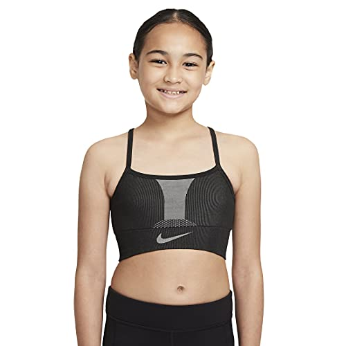 NIKE DD7958 G NK DF INDY SEAMLESS BRA Sports bra girls black/black S