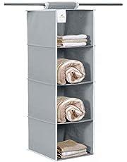 HomeStrap Hanging 4 Shelf Wardrobe Organizer
