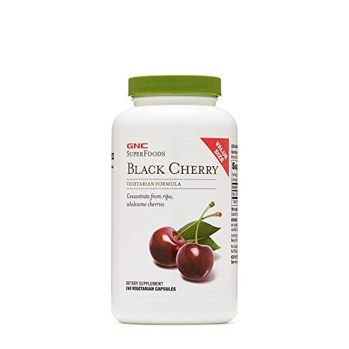 GNC SuperFoods Black Cherry, 240 Capsules, Natural Source of Iodine