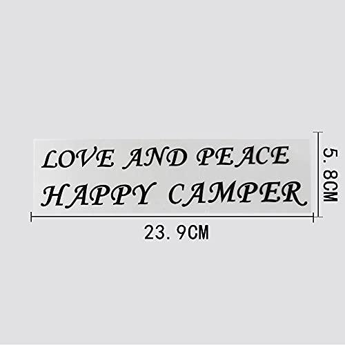 JKGHK Pegatinas para coche, 2 unidades, diseño de texto en inglés 'Love and room', letras de vinilo 23 9 cm x 5 8 cm, color negro