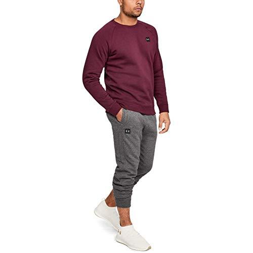 Under Armour Men's Rival Fleece Jogger Trouser, Grey (Charcoal Light Heath / Black 020), XL