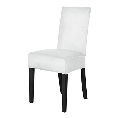 Lan Chen Hoher Grad Velvet Dining Chair Abdeckung Spandex Büro Esszimmer Stuhlbezug Chiavari Stuhl Fall for Stühle Elastic Stretch (Farbe : White, Size : Universal)